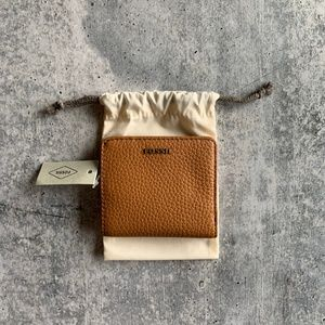 Fossil New Bifold Pebbled Leather Card Wallet